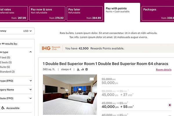 IHG Hotel Booking Flow